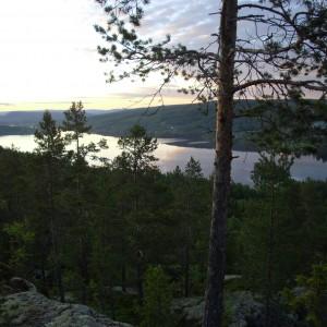 Uitzicht over het Viggesjön