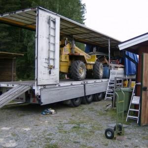 Snel Bert uit de vrachtwagen, gaat het lossen een stuk sneller!!